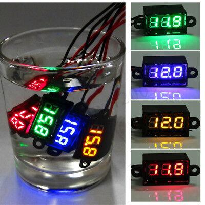 Waterproof Two-Wire DC 3.5-30V Mini Digital LED Voltmeter Volt 12V Meter  ()