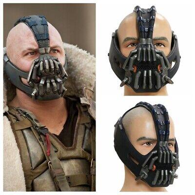 Bane Mask Cosplay Costume Props Helmet The Dark Knight Rises Halloween Mens