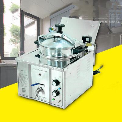 15l Commercial Electric Pressure Fryer 50-300c 110v220v 3000w Meat Fryer New