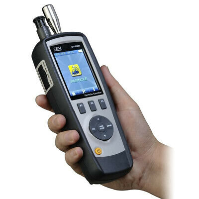 Portable Digital 6-channel Air Dust Particle Counter Temperaturehumidity Tester