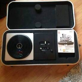 Wii Dj hero turntable with attachable lrgs