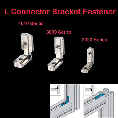 10pcs T Slot L-shape Eu Aluminum Profile Interior Corner Connector Joint Bracket