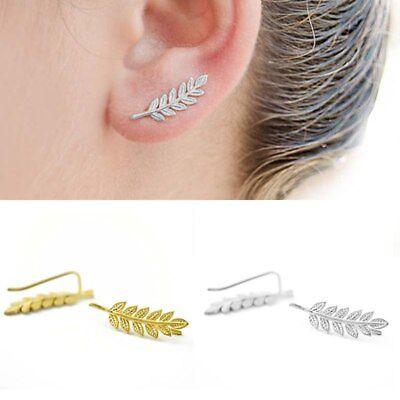 Fern Leaf Ear Climber, Ear Crawler, Sweep Earrings - Bohemian Boho Hippie - Hippie Earrings