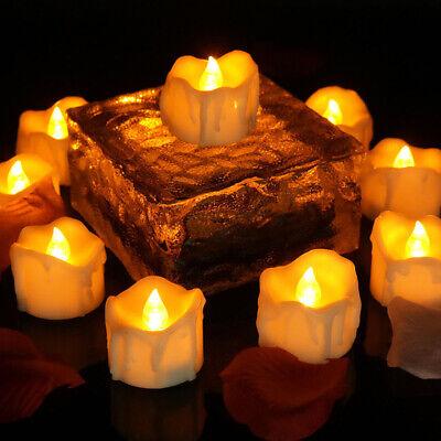 24X LED Teelichter Timer elektrische Teelichter Kerzen Teelicht mit Batterie DE ()