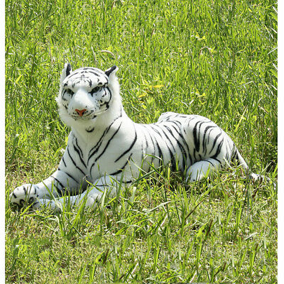 Lovely Simulation White Tiger Stuffed Plush Toy Animal Series Bedtime Doll - White Tiger Plush