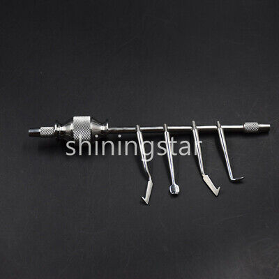 Dental Manual Crown Remover Gun With 4 Tips Press Button For Dental Surgical