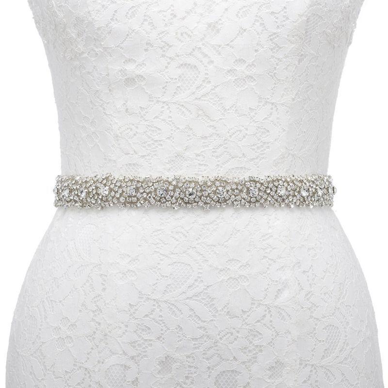 Unique Wedding Dress Sashes Belts: Rhinestone Crystal Bridal Dress Sash Belt Wedding Party