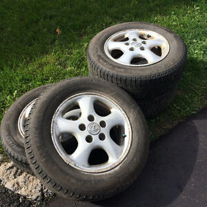 Excellent condition Michelin XIce winter tires on rims 205/65R15 Peterborough Peterborough Area image 1