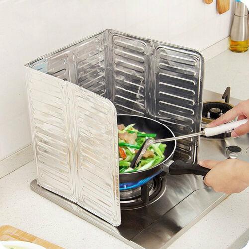 Home Kitchen Stove Foil Plate Prevent Oil Splash Cooking Hot