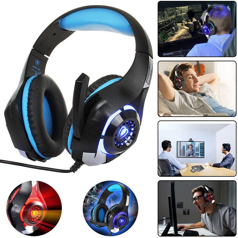 Beexcellent GM-1 Gaming Kopfhörer für PS4 PC Xbox One LED Licht Stereo Headset