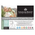 Memory Foam Fill Boomerang Foam Pillow Bed Pillows