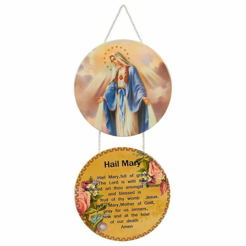 """Christian Hail Mary Hanging Ornament Decoration 12""""x5.9""""x0.2"""" Religious & Easter"""