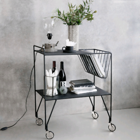 House Doctor Use Side Table / Trolley - Black Steel