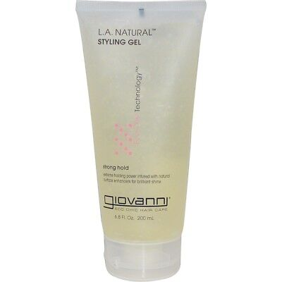 Giovanni L.A. Natural, Styling Gel, Strong Hold  6.8 fl oz (200 ml) (Giovanni Styling Gel)