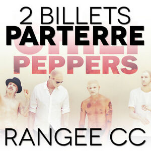 RED HOT CHILI PEPPERS 2x BILLETS PARTERRE Floor Hardcopy + CD
