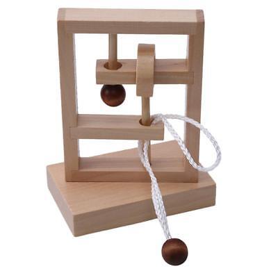 String Brain Teaser Desk IQ Mind Game for Adult Kid Wooden Rope Loop Puzzle O3 Mind Teaser Puzzles