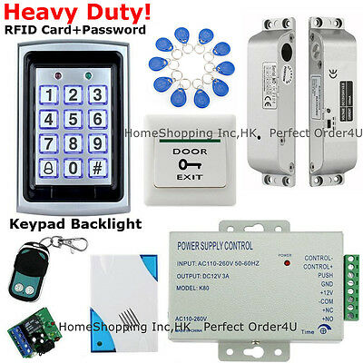 New 125KHz RFID Likely+Password Door Access Control System+Drop Bolt Lock+Doorbell