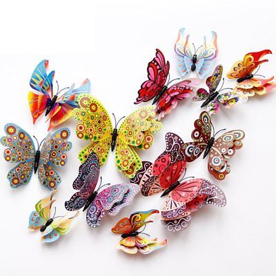 12 Pcs 3D Butterfly Wall Stickers PVC Children Room Decal Home Decoration Decor](Kids Stickers)