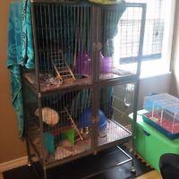 LARGE cage for rat, ferret etc..