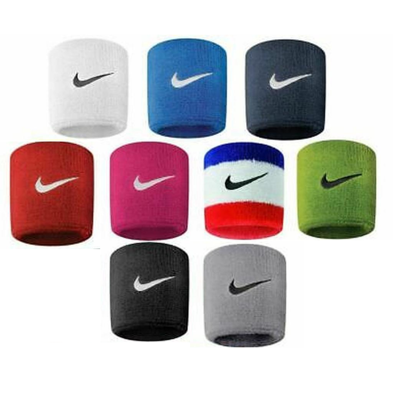 Nike Swoosh Wristbands Sweatbands One Size Unisex 1 Pair in
