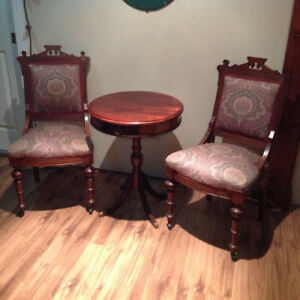 Antique Table with Chairs