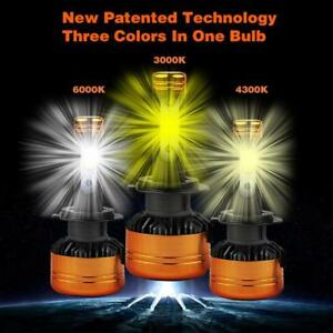 Three Color LED Headlight foglight Kit, 3 Color in 1 bulb,works perfectly in sunny, snowy, foggy, cloudy, rainy weather