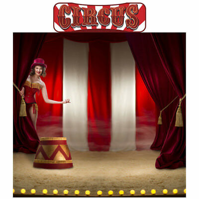 Stand Up Photo Cutouts (CIRCUS Photo Backdrop CARDBOARD CUTOUT Standup Standee Background Poster Big)