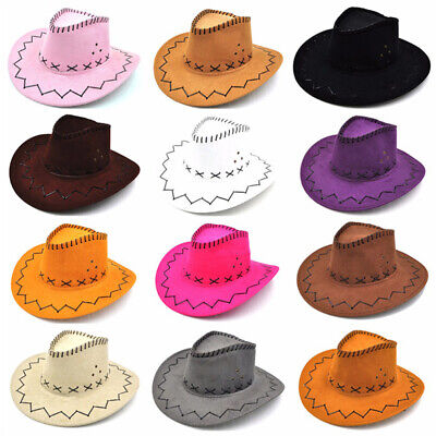 Halloween Style Western Cowgirl Cowboy Hat For Boys Gilrs Party Costumes Cap fa - Cowgirl Costumes For Halloween