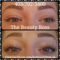 Canmore Promo for eyelash extensions/lash lift tint and LipSense