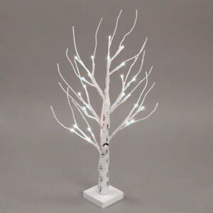 Table Top Easter Twig Tree White Family Decoration 24 leds Easter Tree lighting