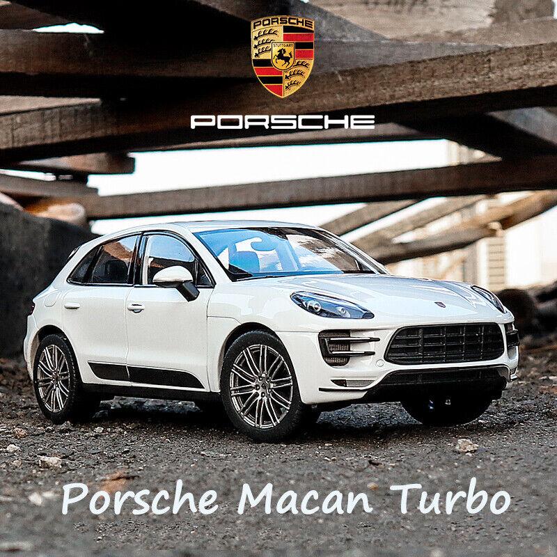 Welly Diecast Porsche Macan Turbo White SUV 1//24 Brand New