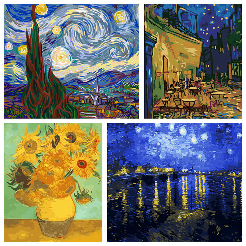 Van Go Famous Painting Diy Paint Oil Painting By Numbers Kit Art Home Wall Decor Ebay