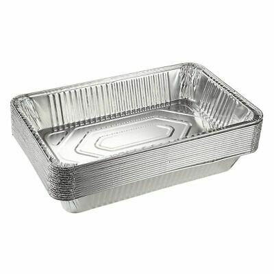 Aluminum Foil Pans - 15-Piece Full-Size Deep Disposable Steam Table Pans