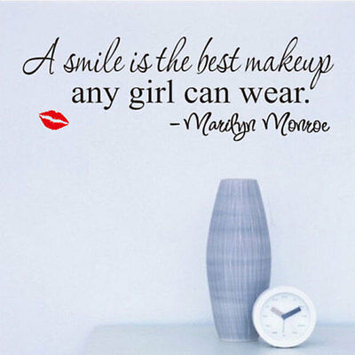 Best Makeup Marilyn Monroe Quote Wall Poster Black Art Fashion Home Decal