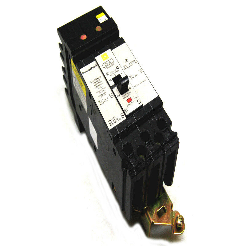 Square D Fda240204 Powerpact  2-pole 20a Molded I-line Circuit Breaker 240/480v