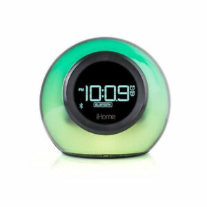 iHome iBT29 Bluetooth Color-Changing Dual Alarm Clock and FM Rad