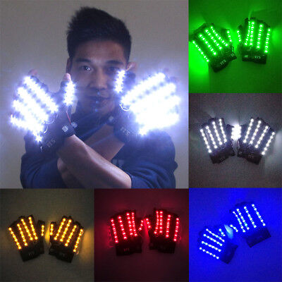 LED Light DJ Gloves Dance Party Nightclub Dancing Music Bar Halloween Cosplay - Halloween Party Night Club Music