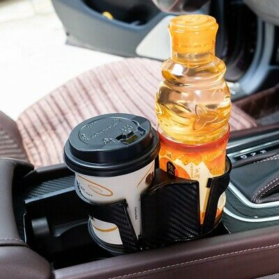 - Center Console Drink Cup Holder Box for Car Interior Parts ABS Carbon Fiber