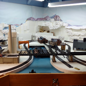 MODEL TRAINS - HO SCALE RAILWAY LAY-OUT / LOTS