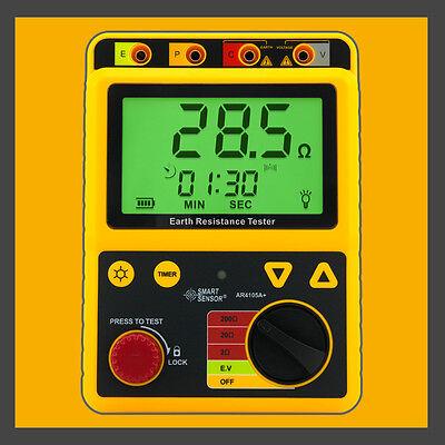 Digital Earth Ground Resistance Meter Tester Range 0-200 Ohm Ar4105a