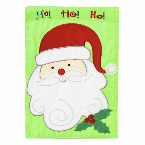 christmas santa double sided applique house flag