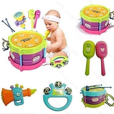 5Pcs Baby Boy Girl Drum Set Musical Instrument Kid Band Kit Children Toy Novelty