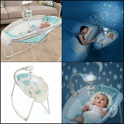 Rocking Newborn Bassinet Baby Crib Nursery Furniture Sleeper Cradle Beds Bedding