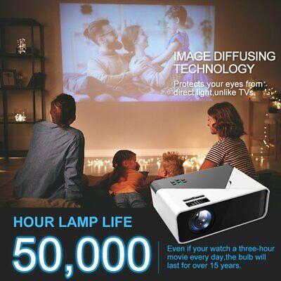 1080P 4K Android Portable Mini Video Projector Wifi Bluetooth Home Theatre HDMI