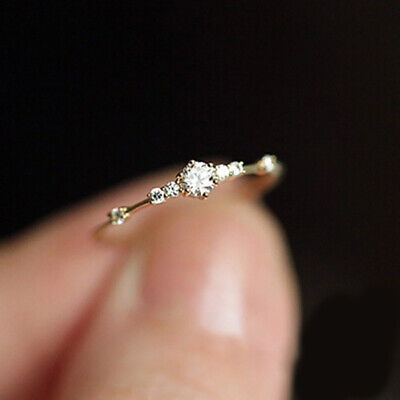 Fashion Tiny Crystal Exquisite Ladies Wedding Jewelry Engagement Ring Size 6-11](Exquisite Ladies)