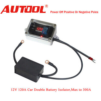 12V Car Double Battery Isolator Protector Auto Dual Battery Controller Smart