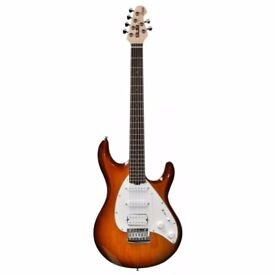 New Sterling Music Man Silo 3 Sunburst Rosewood Neck