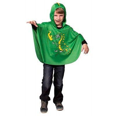 Drachen Umhang Drache Gr. 98 104 110 116 Kinder Kostüm Karneval Halloween Jungen