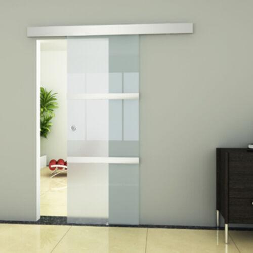 Porta scorrevole in vetro 205 x 75 cm Trasparente Moderno per Ufficio Studio New