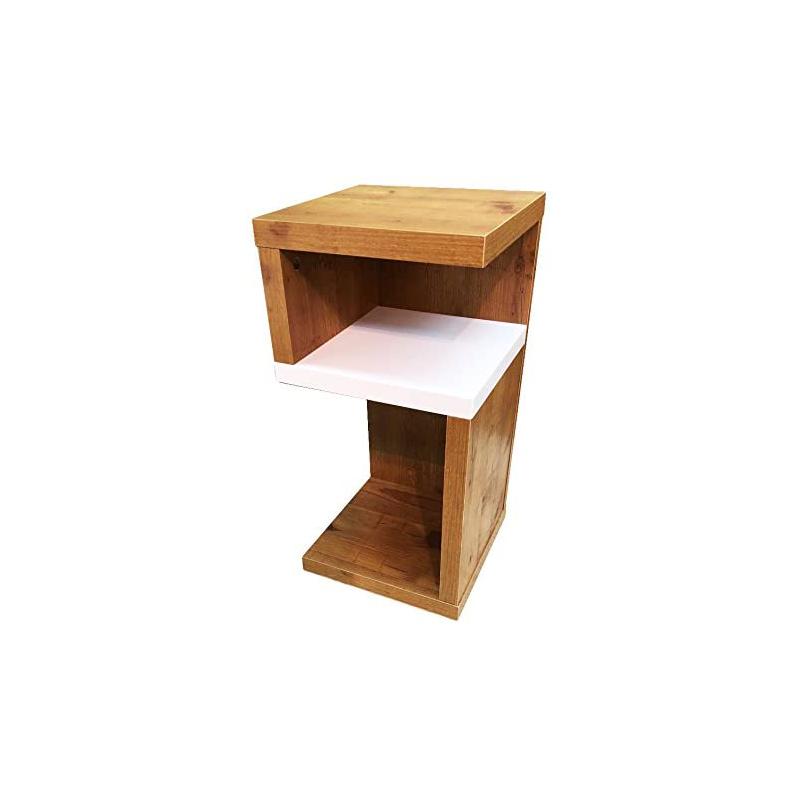 Mostrar la tabla de extremo de madera Mesa Auxiliar Mesita de noche SO-332WAL Azumaya f'kolme - EE. UU. nuevo